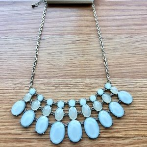 Blue oval statement necklace